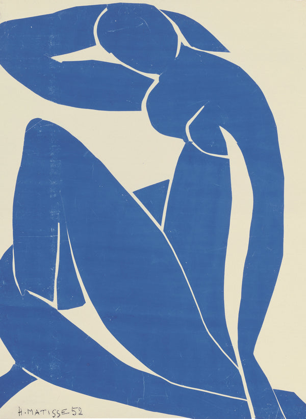 Henri Matisse Blue Nudes Lithograph of Blue nude Figures with crossed legs and right arm up and behind head 1952