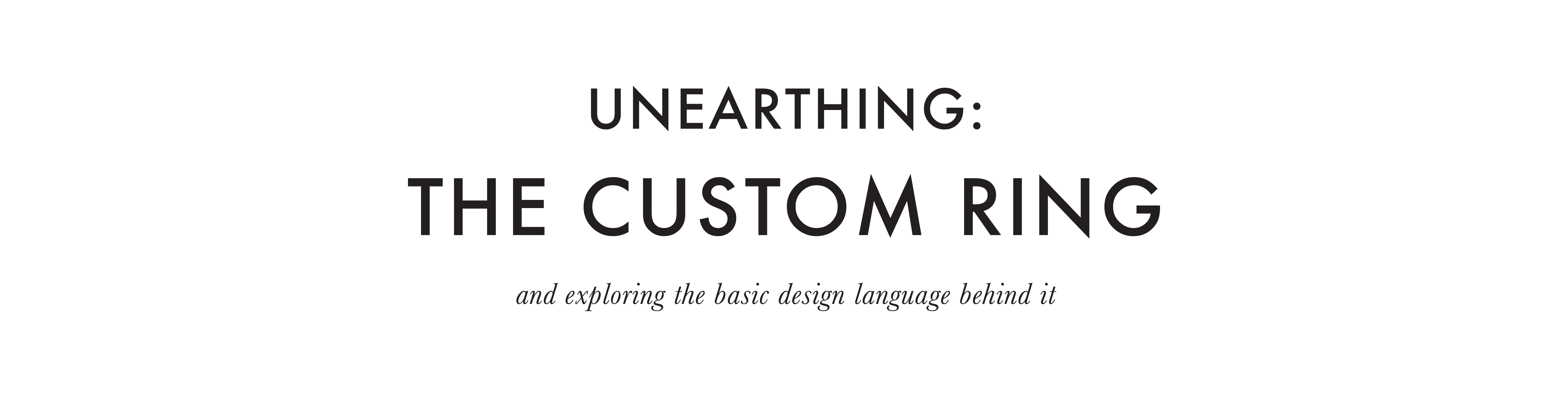 M. Hisae Design Guide Unearthing: The Custom Ring