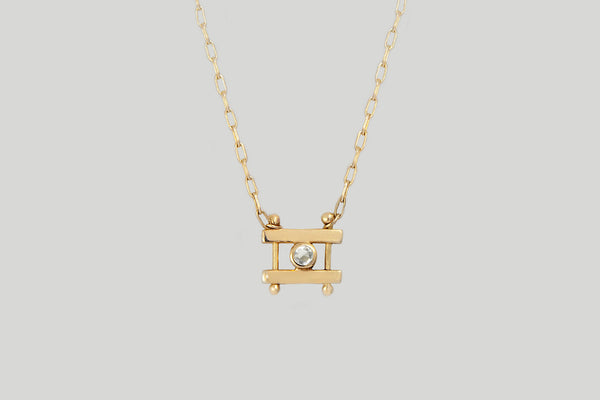 ROSECUT WHITE DIAMOND KIYO NECKACE | 14K YELLOW GOLD