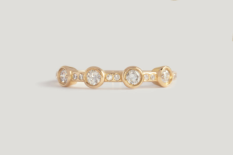 4-STONE WHITE DIAMOND THEIA RING