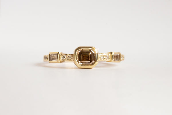 One of a kind Argyle Brown Diamond Hikaru Ring No.5