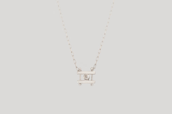 WHITE DIAMOND KIYO NECKLACE | STERLING SILVER