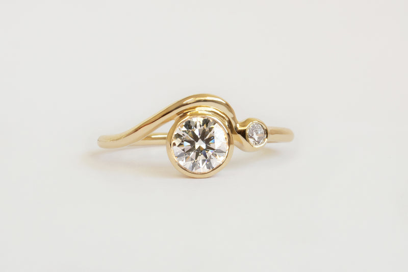 0.5CT WHITE DIAMOND MASUMI RING