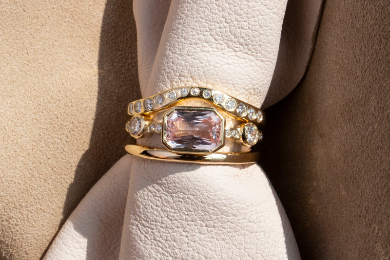 Hikaru Ring No.6 - One of A Kind 1.7ct Emerald Cut Pink Sapphire