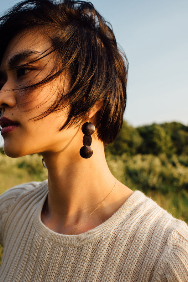 OXIDIZED YUME EARRINGS