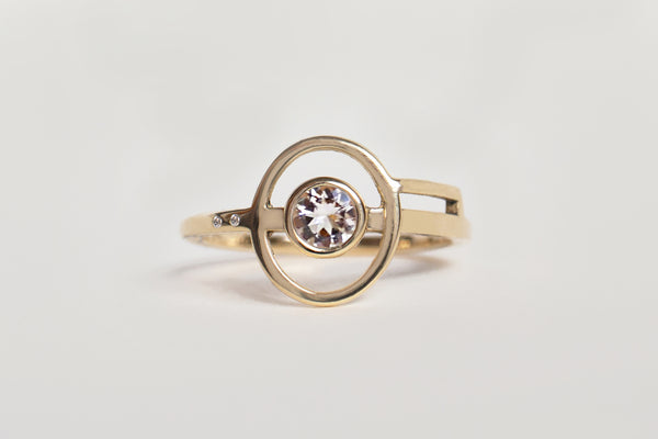 MORGANITE MERIDIAN RING