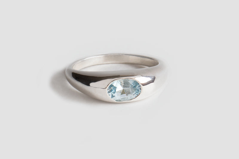 ONE OF A KIND! SKY BLUE TOPAZ CLASSIC RISA RING | STERLING SILVER, SIZE 6