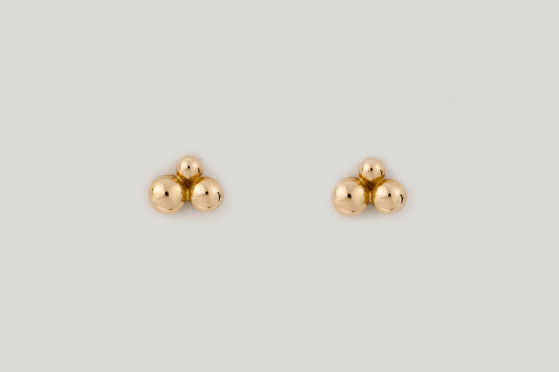SAN STUDS | 14K YELLOW GOLD