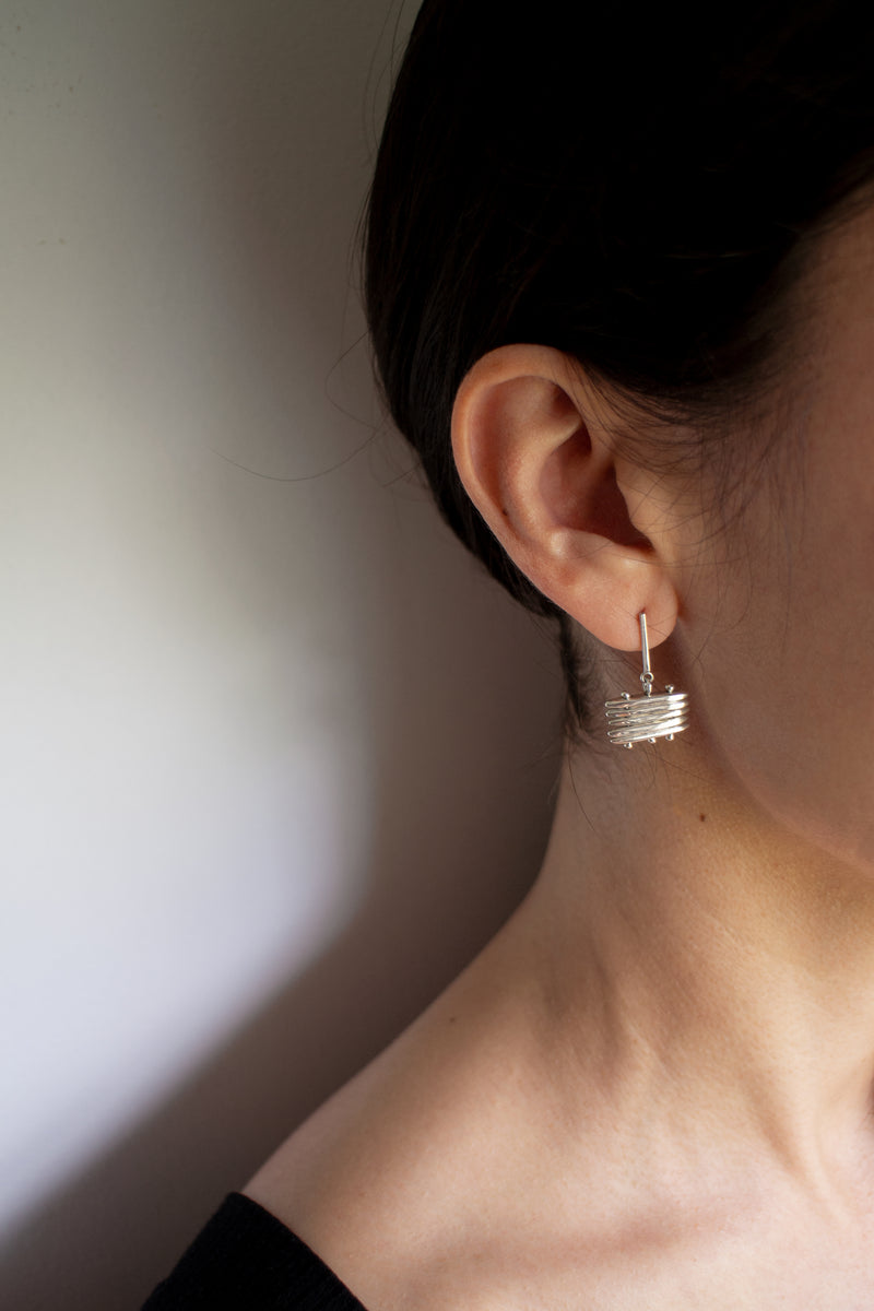 TATAMI EARRINGS | STERLING SILVER