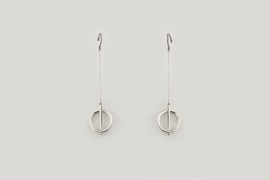 Geometric drop pendant earrings