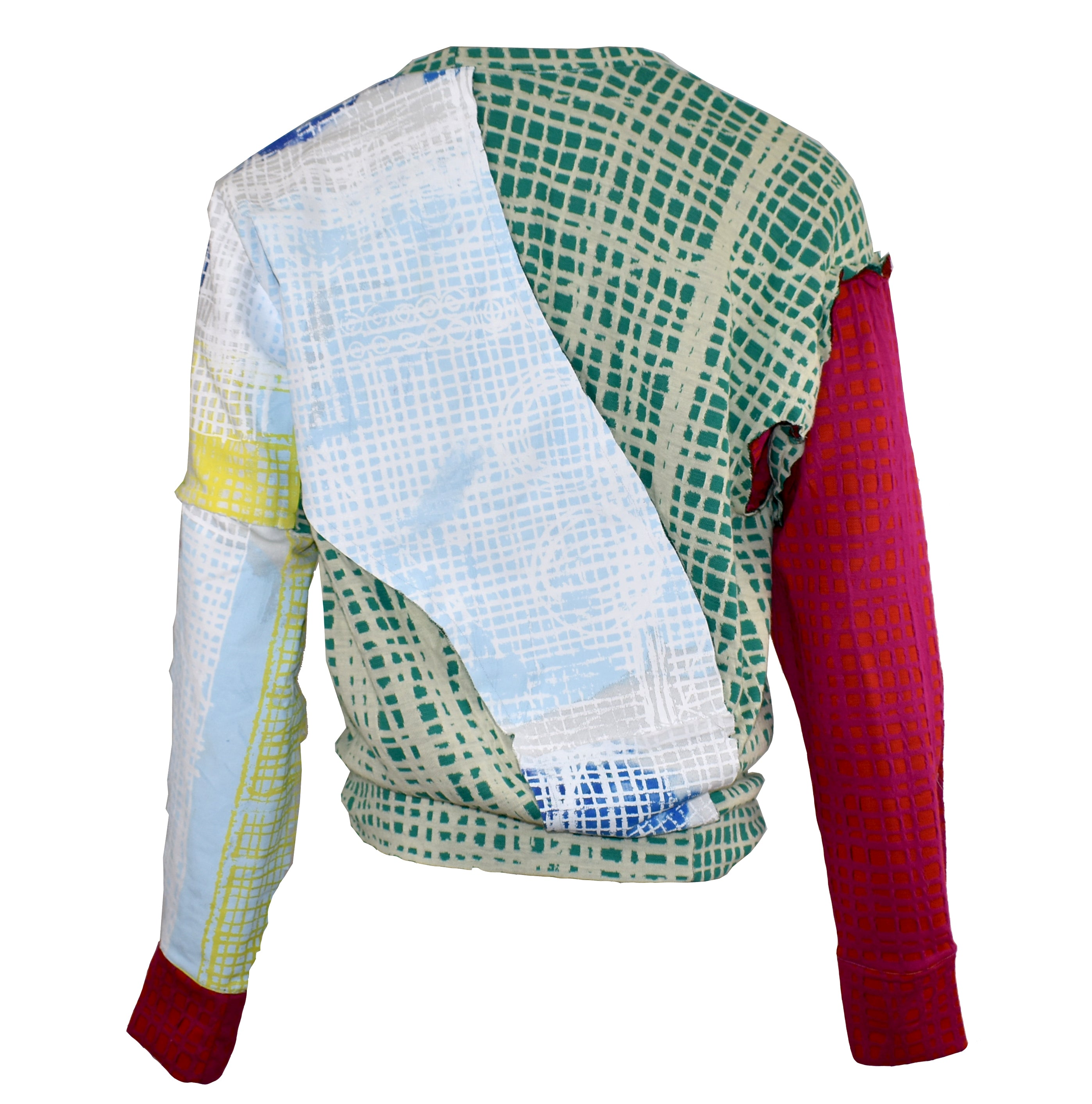 Patchwork Grid Sweatshirt