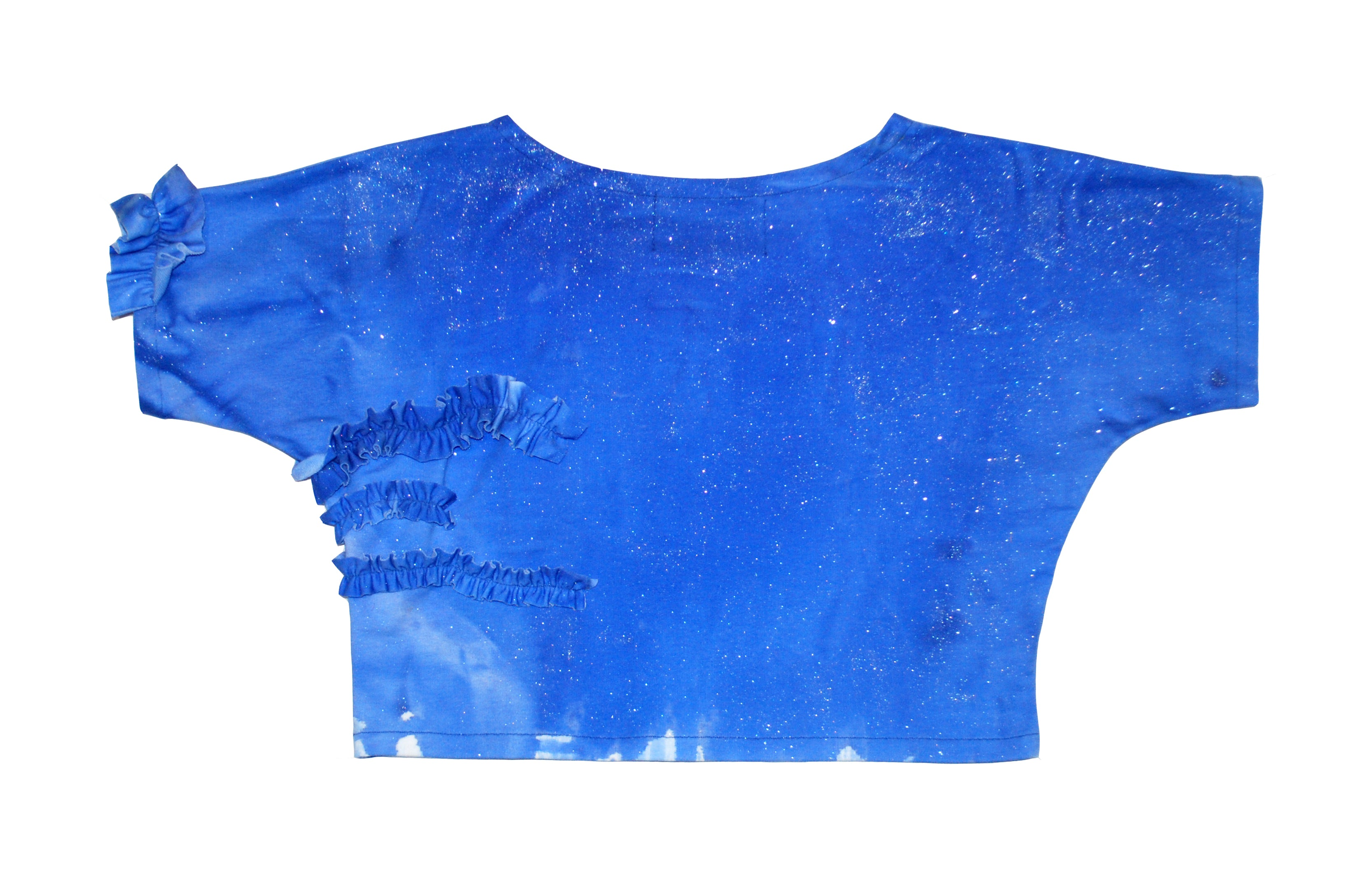 Blue Frills Glitter Top