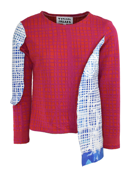 Multi Grid Knit Jumper