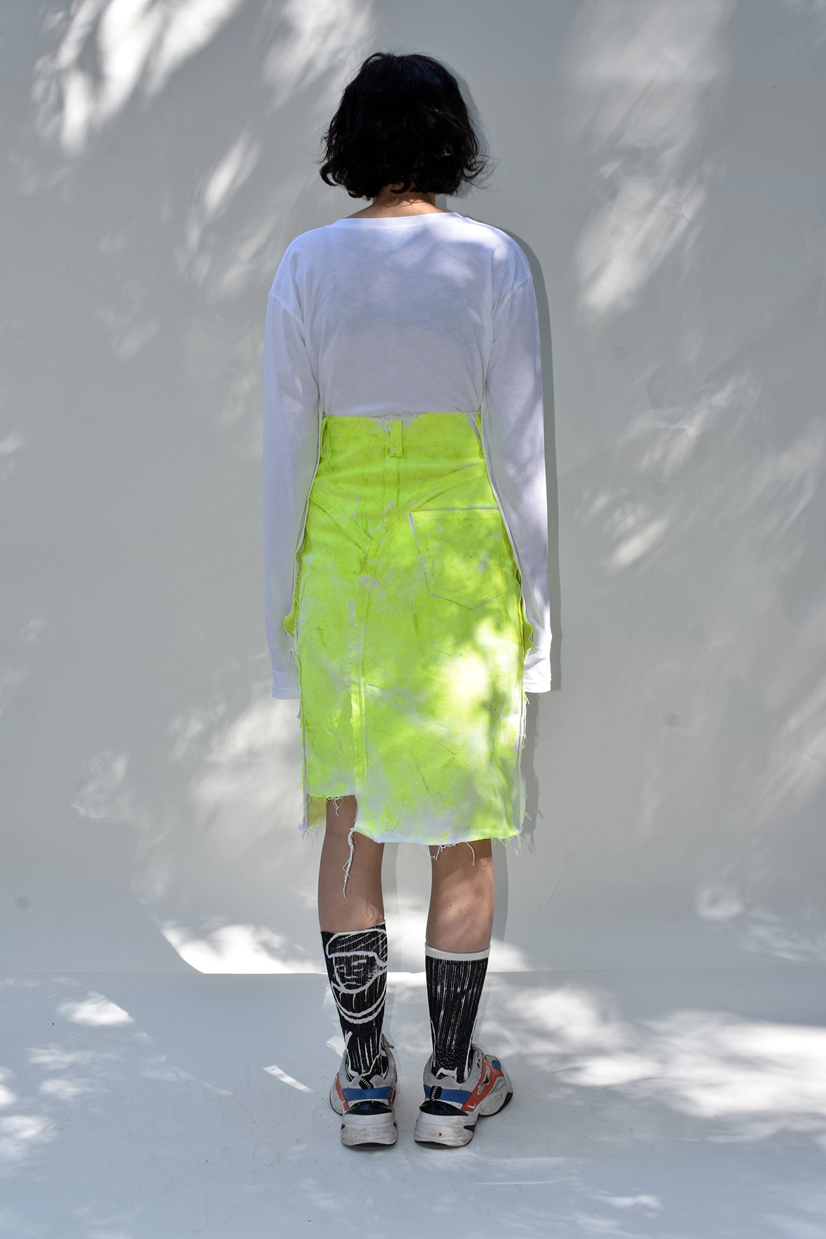Citrus Glitter Denim SKirt