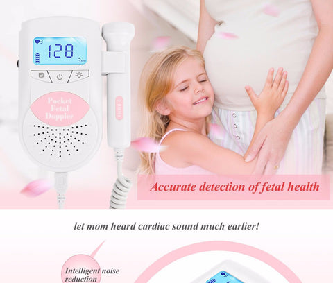 Awesome Pocket fetal Doppler Baby Heart Rate Monitor Prenatal