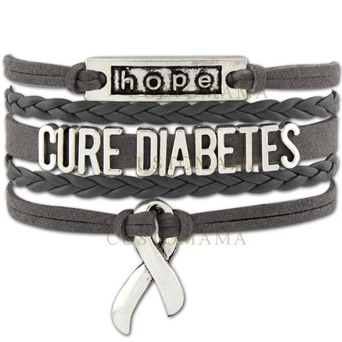 Infinity Love Cure Diabetes Awareness Diabetic Ribbon