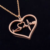 Medical Charm Pendant - Rose Gold/Gold/Silver