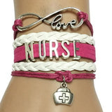 Gorgeous Leather Nurse Bracelets - Clearance