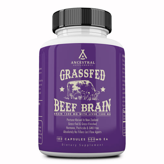 Ancestral Grass Fed Beef Brain With Liver