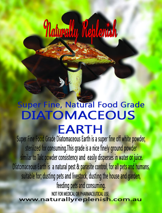Naturally Replenish Super Fine Food Grade Diatomaceous Earth (DE)