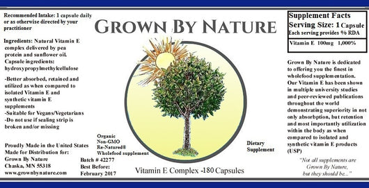 Grown by Nature Vitamin E Re-Natured® 60ct