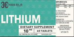 Hakala Research Lithium Orotate 10mg