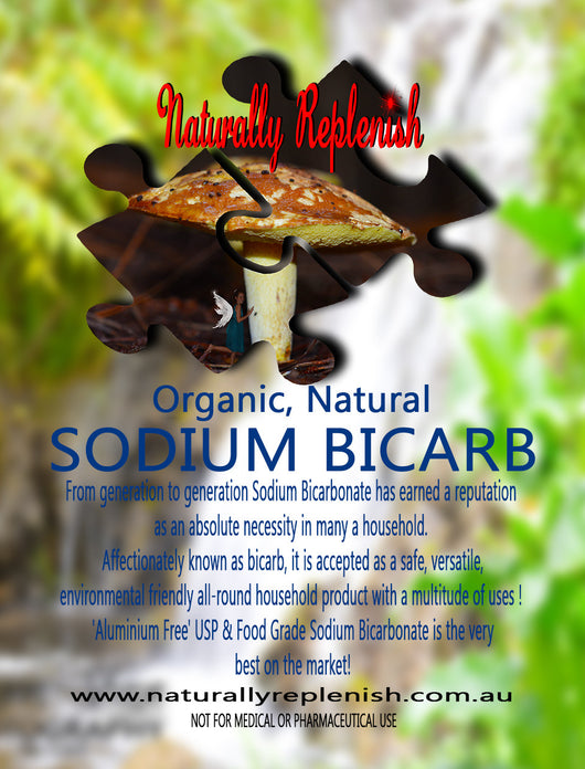 Naturally Replenish Organic Naturally Harvested [Aluminum free] Food & USP Grade Sodium Bicarbonate