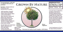 Grown by Nature Selenium & Amino Acid Complex Re-Natured® 60ct