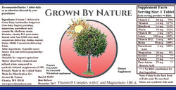 Grown by Nature Vitamin B Complex plus Vitamin C Re-Natured®