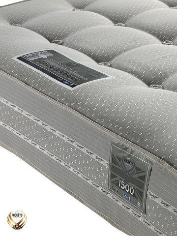 Sareer Pockéto 1500 Pocket Cool Blue Memory Mattress - Medium