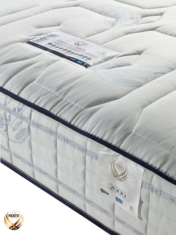 Sareer Pockéto 2000 Pocket Cool Blue Memory Mattress - Medium