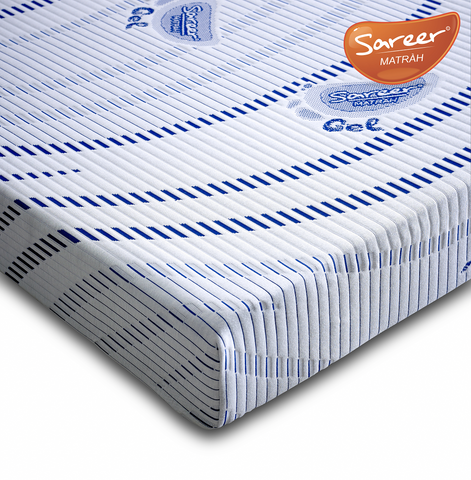 Sareer Gel Memory Foam Mattress - Medium Soft - Deluxe Comforts