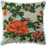 Native Flora Embroidered Cushion