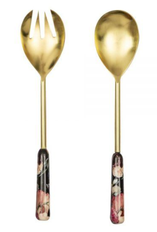Blooms Enamel and Brass servers