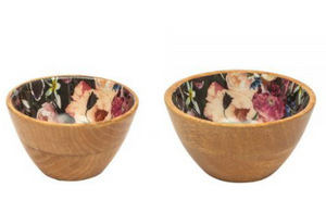 Blooms Enamel and Mango wood dip set