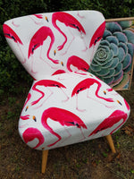 Pink Flamingo on Velvet chair
