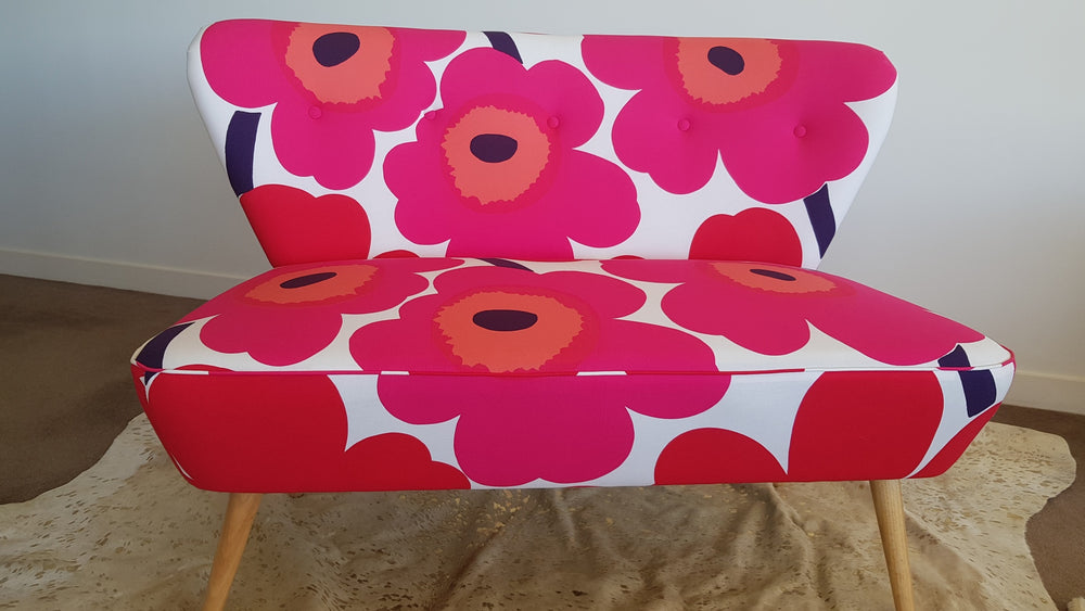 Marimekko 2 Seater in Red and Pink Poppies