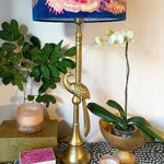 Tall Bronze Peacock table lamp base