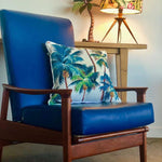 SOLD  Original 70s TV Recliner in blue vinyl