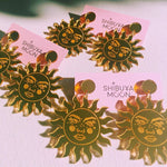 Shibuya Moon Tarot Sun earrings