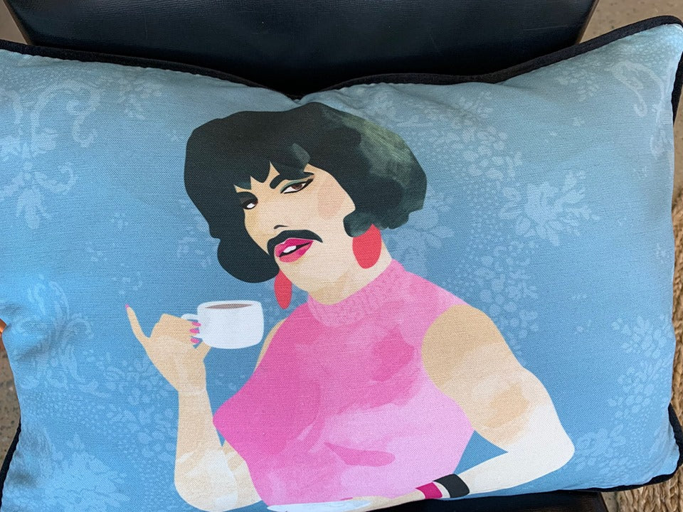 Freddie Mercury cushion covers BACK IN STOCK but only ONE left!
