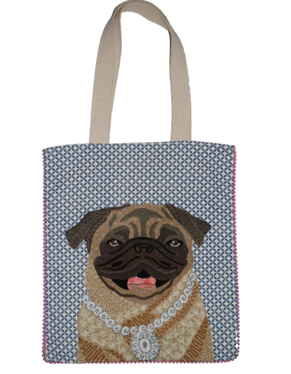 Ever so Cute embroidered Doggy tote