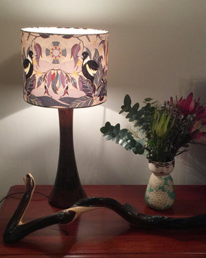 Magpie on Lavender lampshade
