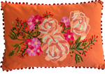 Rose cushion oblong - Coral multi