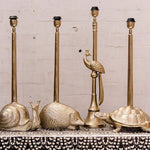 Snail bronze table lamp base