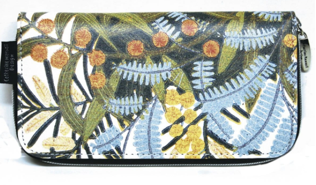 Catherine Manuell Floral Wallet - Wattle