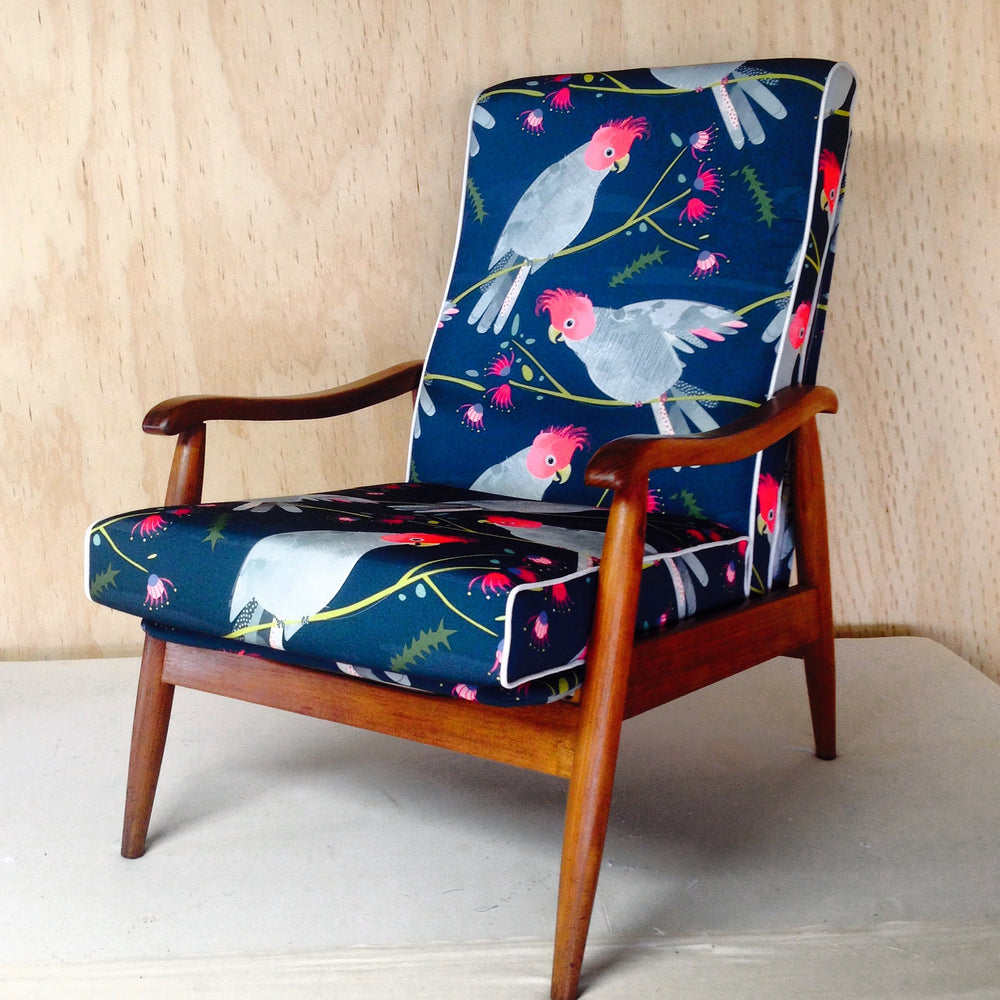 Retro Recliner in Gang Gang fabric