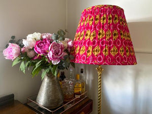Poppy Screen Printed Gathered Lampshade
