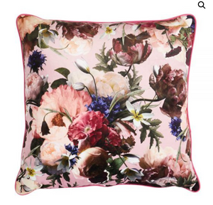 Blooms velvet cushion