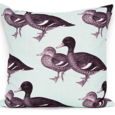 Ducks in aqua cushion cover